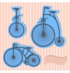Color bikes vector image
