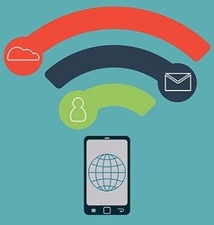 concept mobile technology communication in the vector image