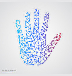 creative concept of the human hand vector image