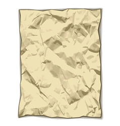 Crumpled yellowed paper vector