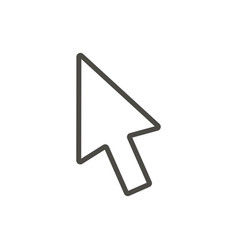 cursor icon line pc pointer symbol vector image