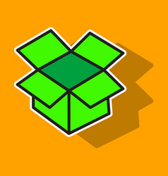dropbox color icon realistic icon or logo sticker vector image