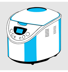Electric bread cooker vector image