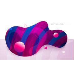 flat liquid color abstract geometric shape fluid vector image