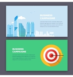 Flat style infographic advertising campaign types vector image