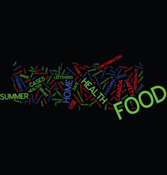 Food safety begins in the home text background vector