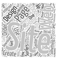 Good Web Site Design text background wordcloud vector