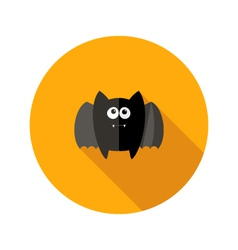 Halloween flat icon with fangs vector
