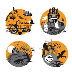 Halloween set 9 vector