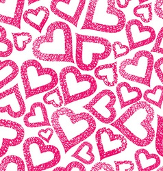 Hearts seamless pattern Love theme seamless vector image
