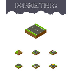 isometric way set of navigation turning repairs vector image