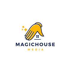magic house logo icon vector image