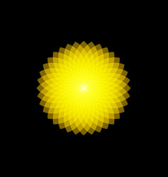 Mathematical symbol yellow lotus logo mandala vector