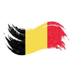 national flag of belgium designed using brush vector image