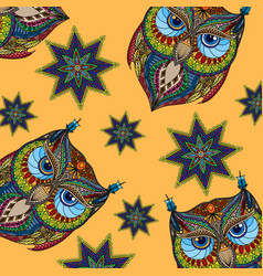 Owl colorful background vector