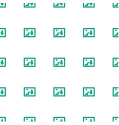 Picture icon pattern seamless white background vector