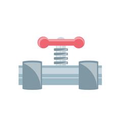 pipe plumbing symbol vector image