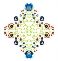 Polish folk inspired pattern vector image