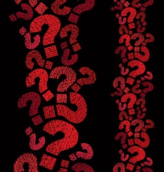 Question marks seamless pattern vertical vector image vector image