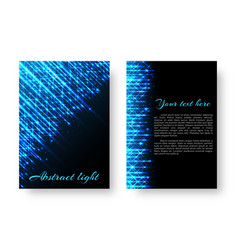 rectangular pamphlet with neon light vector image