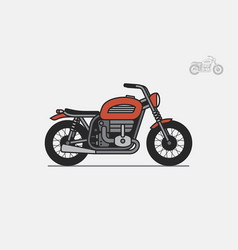 red vintage motorcycle vector image