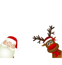 Santa claus and reindeer vector