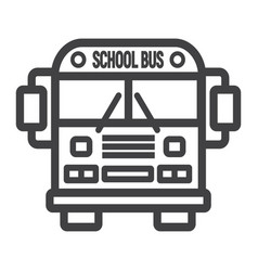 School bus line icon transport and vehicle vector