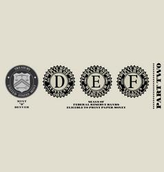 Seals federal reserve banks printing vector