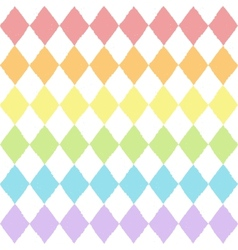 Seamless pattern with geometric rhombuses texture vector image