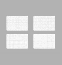 set puzzle jigsaw cards flyers brochures booklets vector image