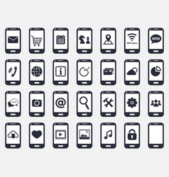 Smartphone icon set vector