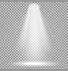 Spotlight bright light beam transparent vector
