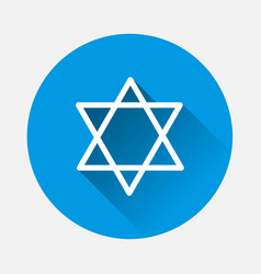 Star from two triangles icon on blue background vector