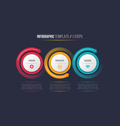 three steps infographic process chart with vector image