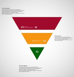 Triangle infographic template consists of three vector image