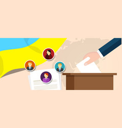 ukraine democracy political process selecting vector image