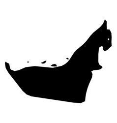 united arab emirates uae - solid black silhouette vector image