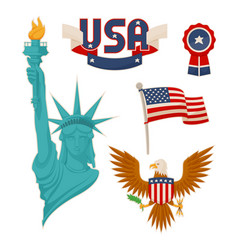 usa national symbolism color vector image