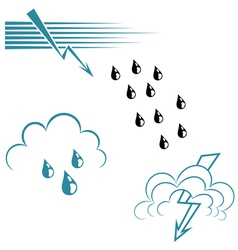 Weather Symbol Set vector image