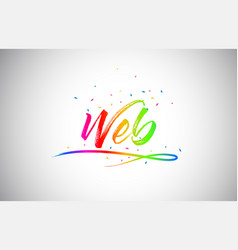 Web creative vetor word text with handwritten vector