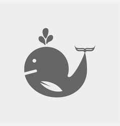 Whale icon vector