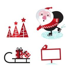 winter design retro christmas elements vector image