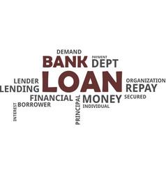 Word cloud - bank loan vector