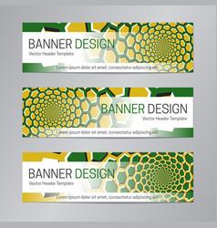 yellow green banner design web header template vector image