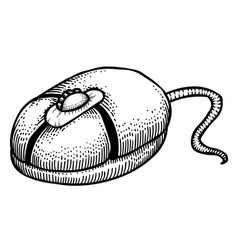 cartoon image of computer mouse vector image vector image