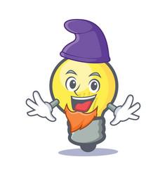 Elf light bulb character cartoon vector