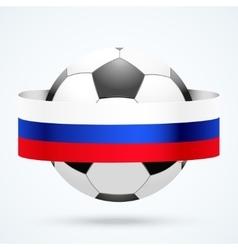 Football ball with russian flag vector