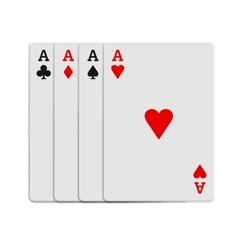 Four aces playing cards icon realistic style vector image vector image