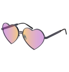 glasses in heart shape vector image vector image