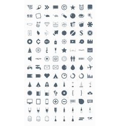 icons signs symbols and pictograms vector image